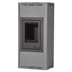 HS FLAMINGO AQUAFLAM 7 kachle krbové s teplovodným výmenníkom, manuálna regulácia, šedá