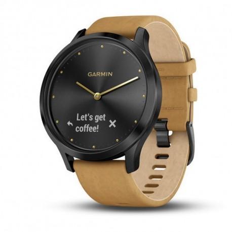 GARMIN Vívomove HR Premium náramok fitness Onyx Black - Tan Suede