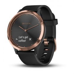 GARMIN Vívomove HR Sport náramok fitness Black-Rose Gold, S/M