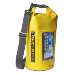 """CELLY Explorer 5L vak vodotesný s vreckom na telefón do 6,2 """", žltý"""