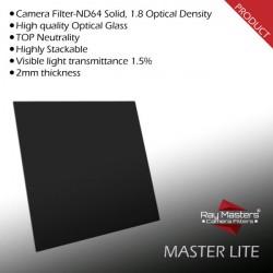 RMCF ZERO MasterLITE - ND64, 100x100 mm camera filter