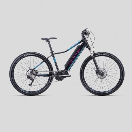 CTM RUBY PRO 29 17´´ matná čierna/ružová 2019 horský elektrobicykel