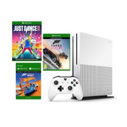 XBOX ONE S 500GB + Forza Horizon 3 + Hot Wheels + Just dance 2018