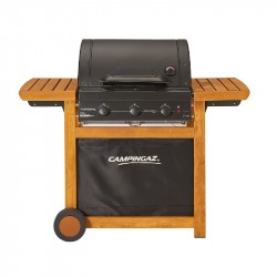 Gril záhradný plynový Campingaz Adelaide 3 Woody L with cast iron grid