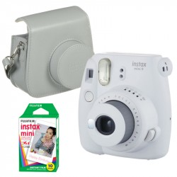 FUJIFILM INSTAX MINI 9 SMOKEY WHITE +film10ks+púzdro - SET 70100141198
