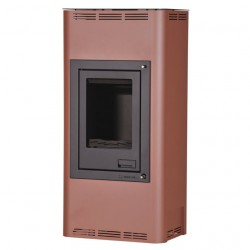 HS FLAMINGO AQUAFLAM 7 kachle krbové s teplovodným výmenníkom, manuálna regulácia, hnedá zamatová